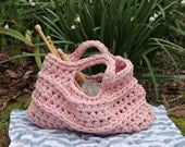 Pattern - crochet tshirt yarn bag, crocheted market bag pattern, PDF Pattern Download,
