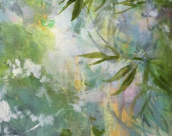 Serenity Leaves-- Modern Art in Frame