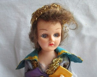 "1940s 7"" Hard Plastic Doll w/Sleepy Eyes"