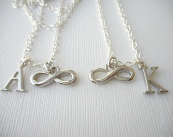 2 Infinity- Initial Best Friend Necklaces (Set)