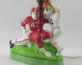 Football Players Lamp - Vintage Sports - Boys Bedroom - Childrens Room Decor
