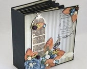 Handmade Mini Album Junk Journal Butterflies One of a Kind