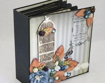 Handmade Mini Album Junk Journal Butterflies One of a Kind