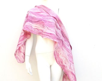 Winter Wrap Pink Marble