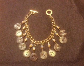 Brown Button Bracelet