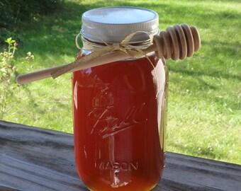 Raw Honey Wildflower Honey 43oz Mason Jar Golden Pure Unfiltered Honey Wedding Gift Rehearsal Gift Bridal Shower Gift Wedding Favor