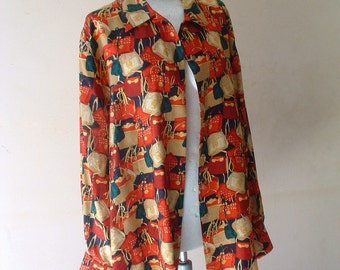free shipping GIVENCHY silk blouse never been worn made in Germany circa 1980's