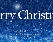 Merry Christmas - Facebook Timeline Cover For Your Personal Page -Winter Snow & Sky Nature Scene -Instant Download