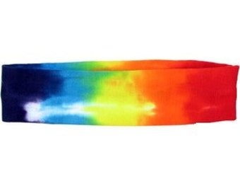 Rainbow Tie-Dye Stretchy Headband