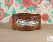 Let Love In Leather Chick Cuff