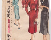 RESERVED for blondiephysicist - RARE 50s Fancy Keyhole Dress