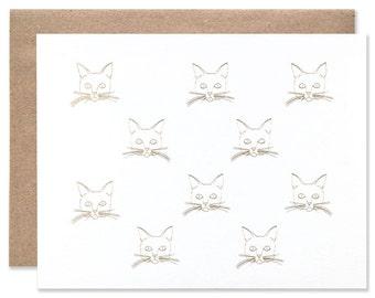 Foil Cat Card