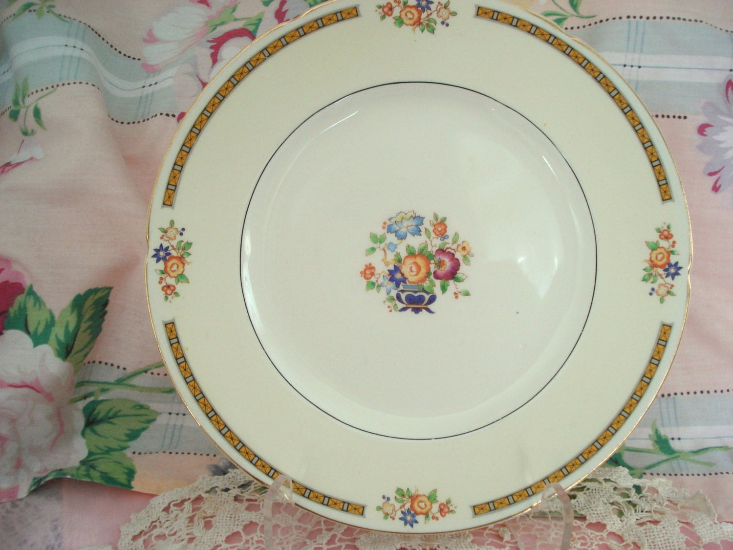 Vintage Wedding Luncheon Plates Dinner Plates WH Grindley