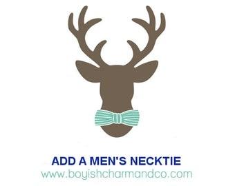 Add-On Men's Necktie, Father Son Matching Necktie, Father Son Tie Set