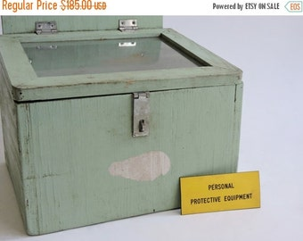 Half Price SALE Mid Century Industrial Factory Box from Alabama Textile Mill
