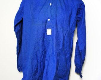 1940's indigo linen work shirt