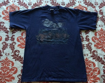 Vintage Mount Rushmore Buffalo T-Shirt