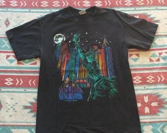 Vintage New York New York Las Vegas Statue of Liberty T-Shirt