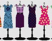 Needlepoint Kit or Canvas: Colorful Wardrobe