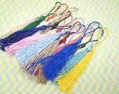 Wholesale 50pcs mixed colors tassels silk tassels satin tassels Jewelry tassels for decorating tassels