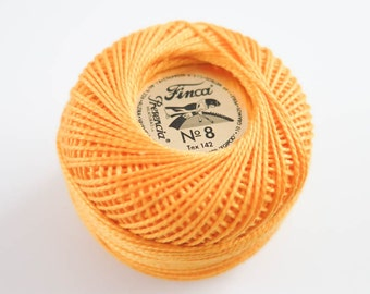 Perle Cotton Thread | Finca Presencia Pearl Cotton, Embroidery Thread - Medium Gold (1227)
