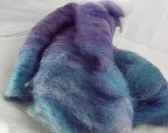 Artisan Shetland Blended Batts-Blue Plum