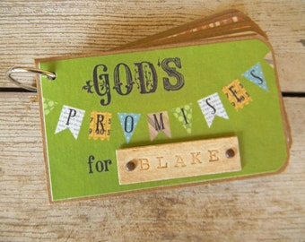 Personalized book for baby boy - God's promises - unique gift for baby shower - new baby - first birthday