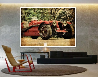 1939 ASTON MARTIN 2-Litre Speed Model, Classic Car Poster, Vintage Background Line Art Print, Art Print 10x14in and larger sizes