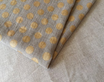 ON SALE soft Polka Dot linen fabric 19,68 x 59 inch