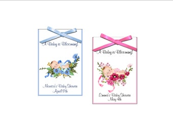 Seed Packet favors - baby shower - baby is blooming boy or girl shower favor - set of 12 seed packets