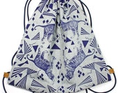 Backpack tiger puzzle blue