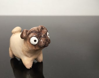 Cute and quirky custom pet figurines, handmade and hand painted! Small size.