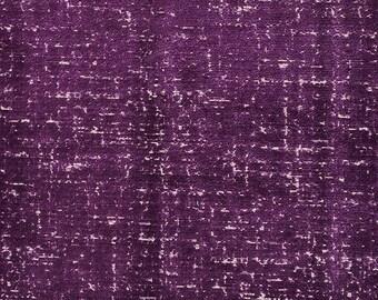 DESIGNER DISTRESS BELGIUM Cut Velvet Upholstery Fabric 10 Yards Purple