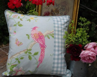 Laura Ashley Summer Palace Fabric - Pink Flamingo Cushion/Pillow