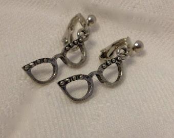 Hispter Glasses Clip-on Earrings