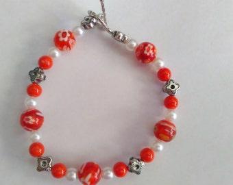 Orange spring bracelet
