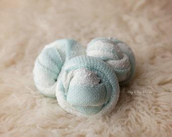 Aqua Newborn Wrap, Newborn Knit Stretch Wrap , Aqua Cream Newborn Wrap, Newborn Photo Prop, Stretch Knit Baby Wrap, RTS