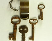 Horstmann - Vintage Brass Keys and Whistle - HORSTMANN PHILA - Military - Police Whistle