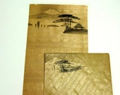 Vintage Rice Paper Stationery and Envelopes from late 1940's - Collections of 6 Sets