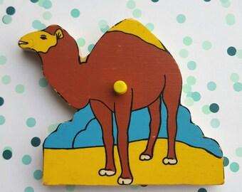 Vintage puzzle piece magnet / Dromedaris / magnet/ Ravensburger  magnet