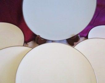 Lenox Olympia Platinum Salad plates, Lenox Wedding china, china galore,  Like New, 6 included