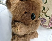 RESERVED FOR JENNIFER: Real Fur Koala Bear - Vintage Plush Animal - Koala - Collector Bear - Extremely Soft Brown Fur - Gift - Child
