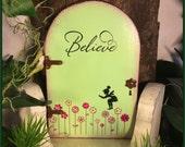 Fairy Door, Fairy Garden, Garden Decor, Green, Birthday, Spring, Girls Room Decor, Fairy, Outdoor, Wooden, Gifts for her,  Mothers Day, Door