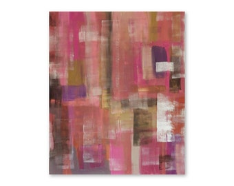 Original modern abstract painting on canvas, artwork, acrylic painting, 30 x 36, wall art, home decor, ''New Pink Accent'' by A. Sage
