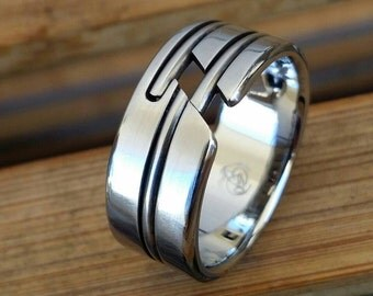 """05 """"APPROXI"""" handmade stainless steel ring (not casted)"""