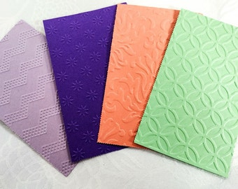 Embossed paper - Scrapbook - Embellishments - Hand made cards - card making -  DIY carft - set of 40 pieces