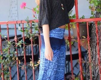 Blue Aztec Flare Pants