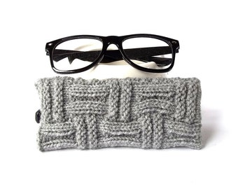 Gray Glasses Case. Eyeglasses Case. Eyeglasses Holder. Sunglasses Case. Reading Glasses Case. Spectacles Case.