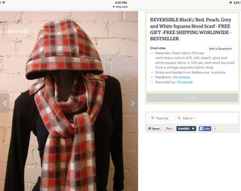 Hooded scarf!