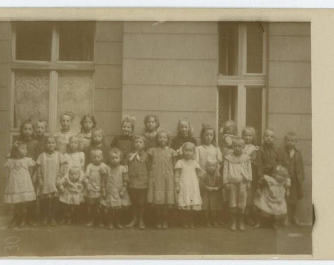 Vintage Photo RPPC: School Children, Berlin, 1911 (69497)